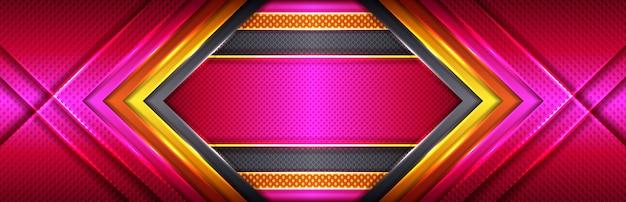 Золотая линия современного роскошного дизайна с розовыми и красными оттенками Premium векторы