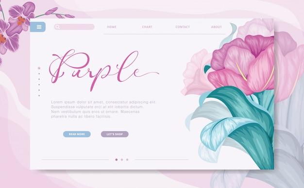 Modern design branding website template Premium Vector