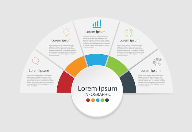 Modern design elements for business Multicolor infographics. Vector ...