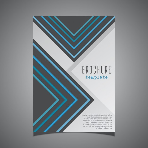 Modern design for a business brochure cover vector free for Brochure front cover design
