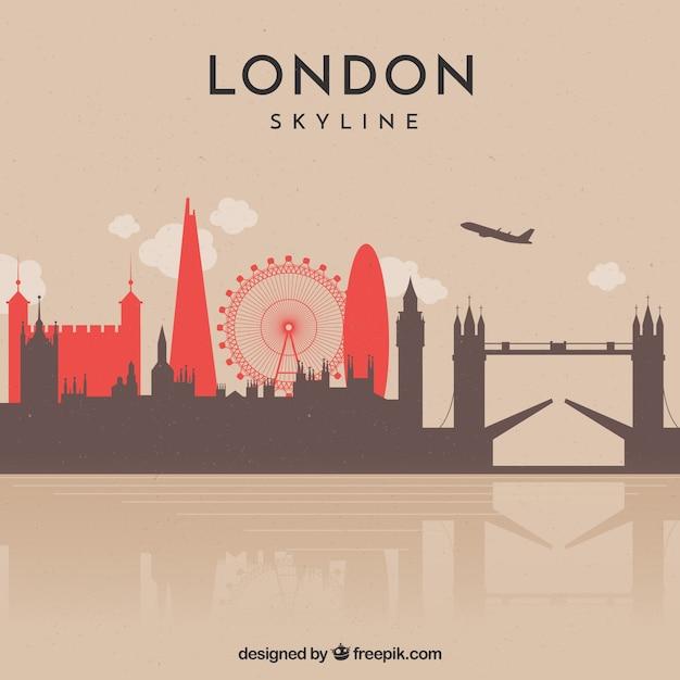 Modern design of skyline of london Free Vector