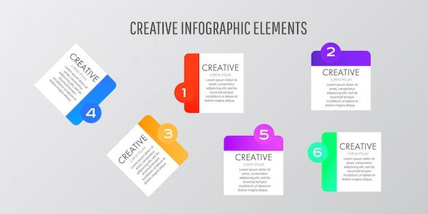 Modern design template stickers. Premium Vector