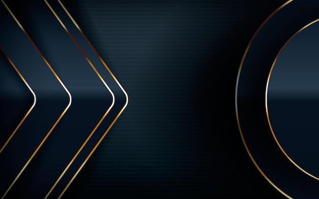 Modern design with light golden line Premium Vector