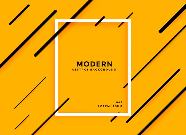 Modern diagonal lines yellow abstract background Free Vector