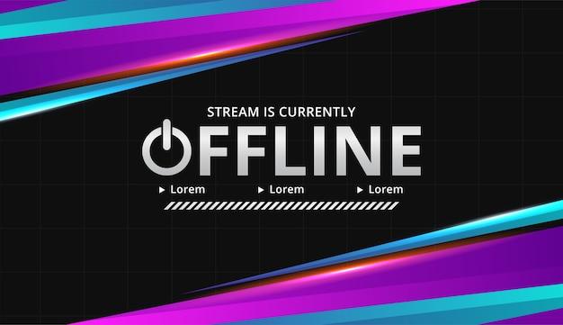 Modern digital theme twitch offline background Free Vector