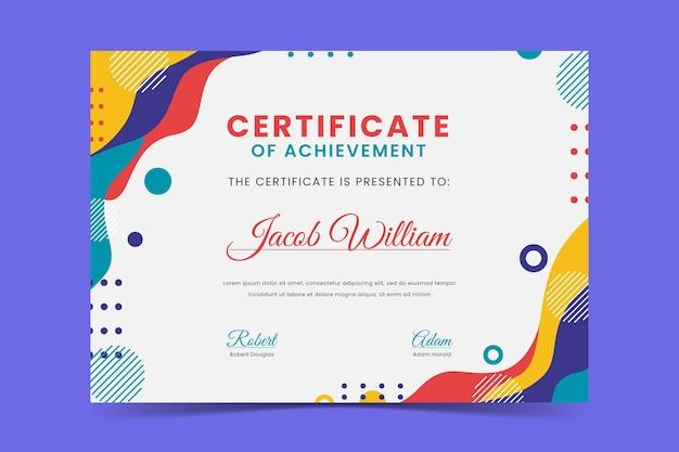 Template diploma modern Vektor Gratis