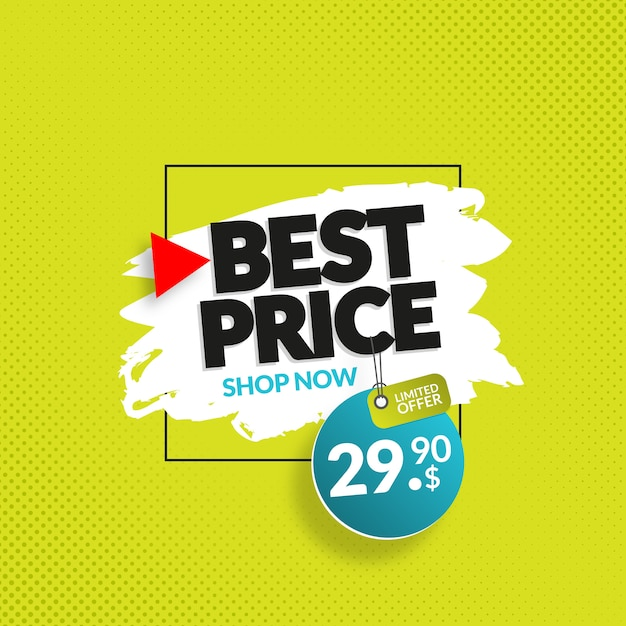 Modern discount banner for web and social media Premium Vector