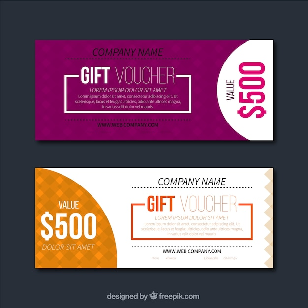 Modern discount coupons Free Vector