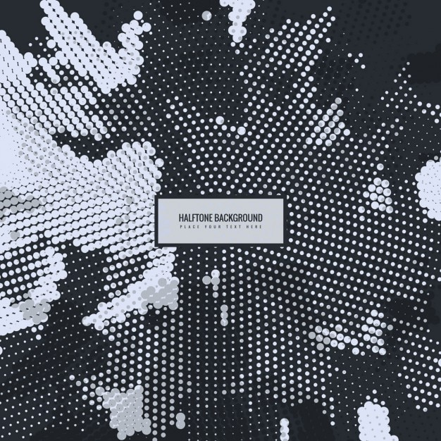 Modern dotted background