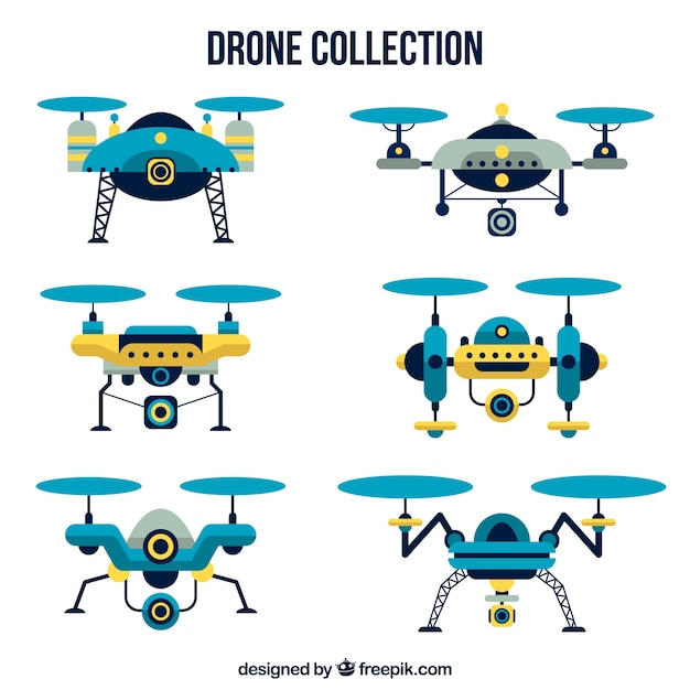 Modern drones with elegant style