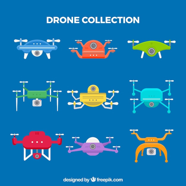 Modern drones with funny style