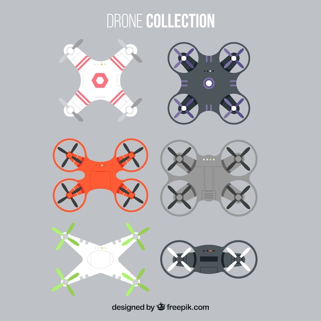 Modern drones with professional style