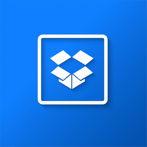 Modern drop box icon Free Vector