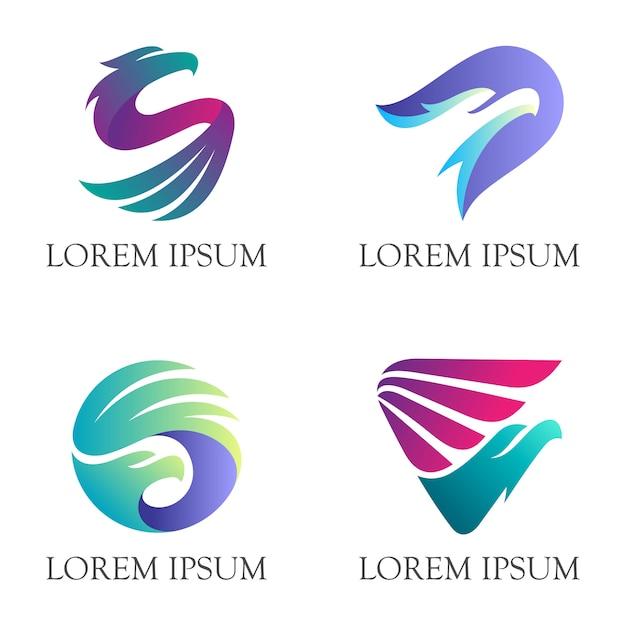 Modern eagle animalロゴ Premiumベクター