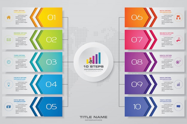Modern&editable process chart for data presentation. Premium Vector
