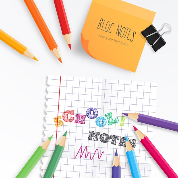 Modern Education Background for Back to School Free Vector