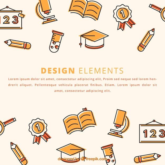Modern education elements background