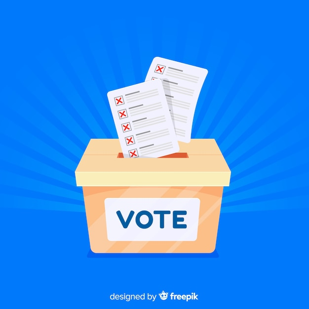Modern election box with flat design Free Vector