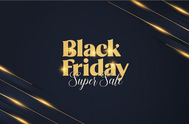 Banner di venerdì nero elegante moderno con sfondo astratto banner Vettore gratuito