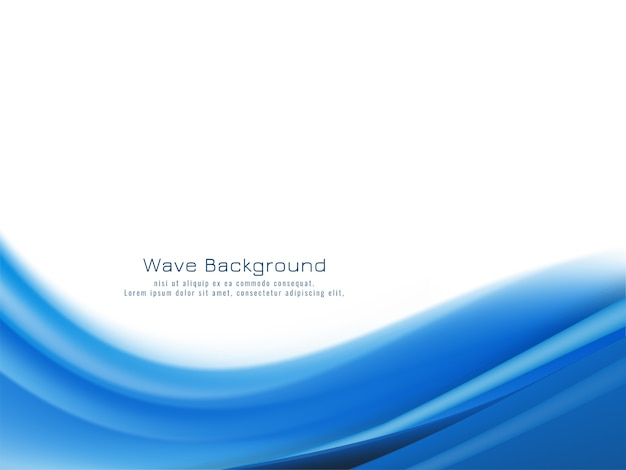 Modern elegant blue wave background vector Free Vector