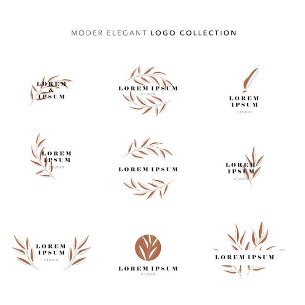 Modern elegant logo collection Premium Vector