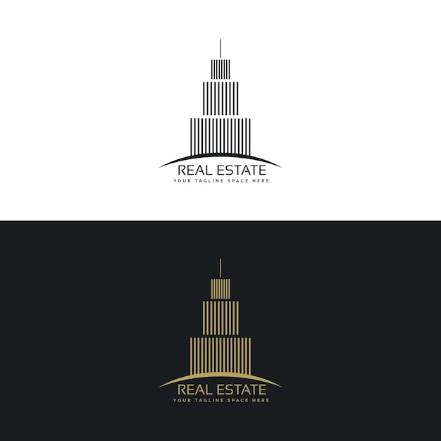 Modern elegant real estate logo