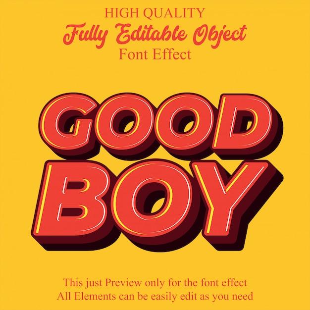 Modern emboss text style editable font effect Premium Vector