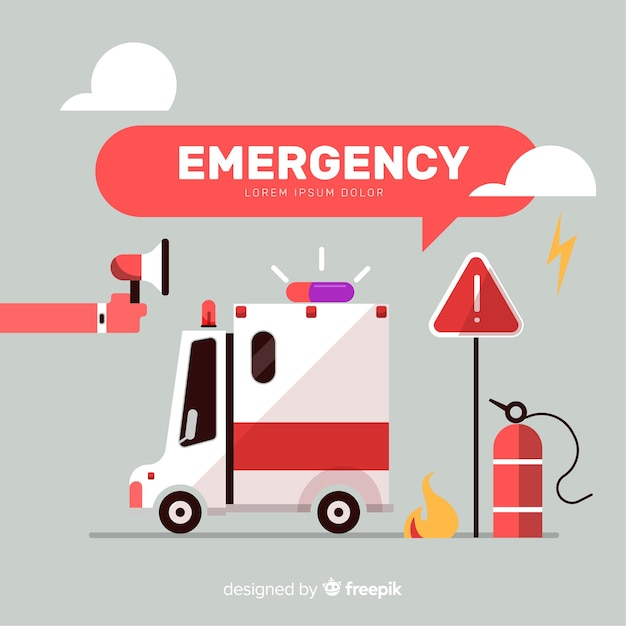 Modern emergency composition Free Vector