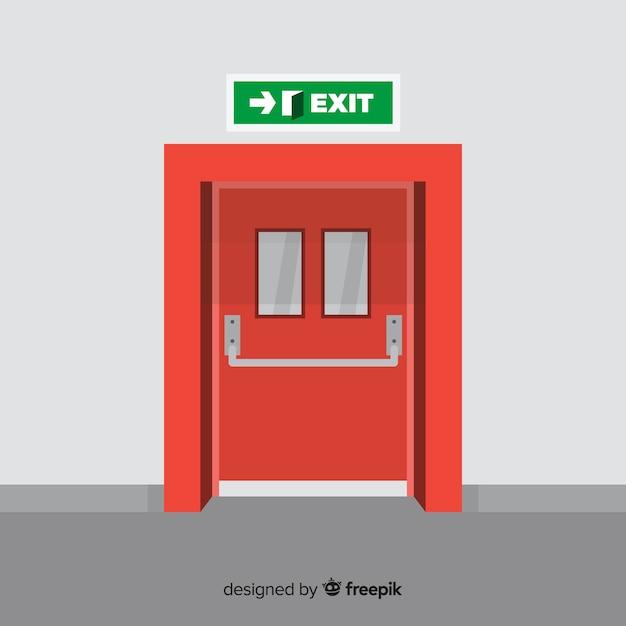 Concetto moderno di parola di emergenza con design piatto Vettore gratuito