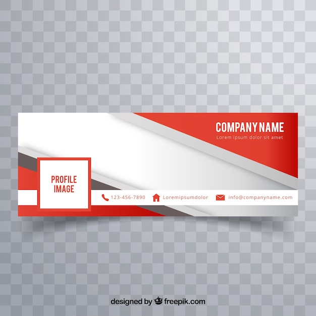 Modern facebook cover to business