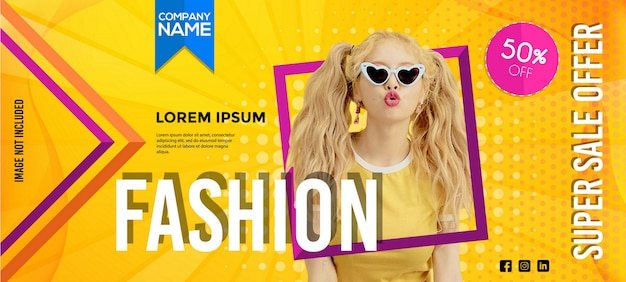 Modern fashion sale banner template Premium Vector