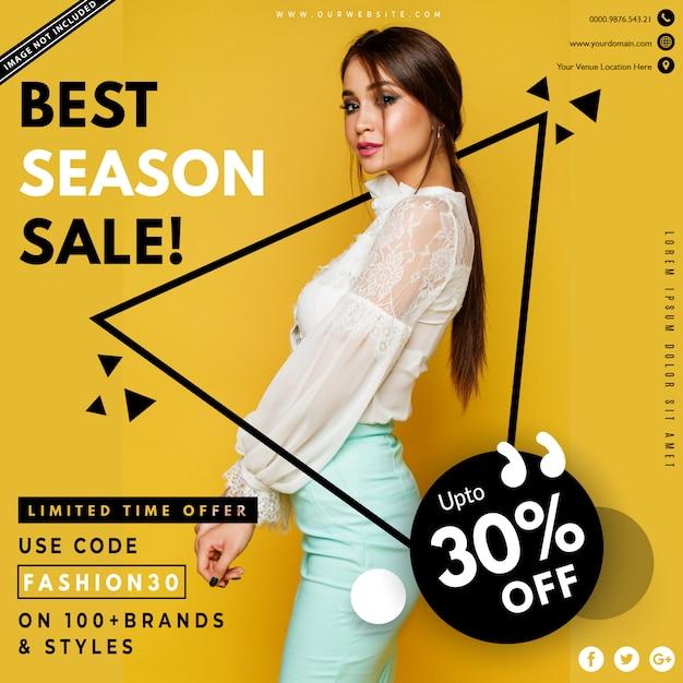 Modern fashion sale banner Premium Vector