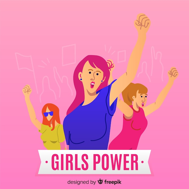 Modern feminism concept with flat design Free Vector