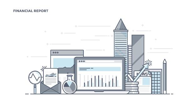 最新の財務報告コンポーネント Premiumベクター