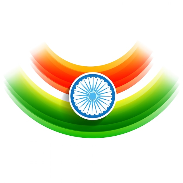 Modern flag design for indian independence day