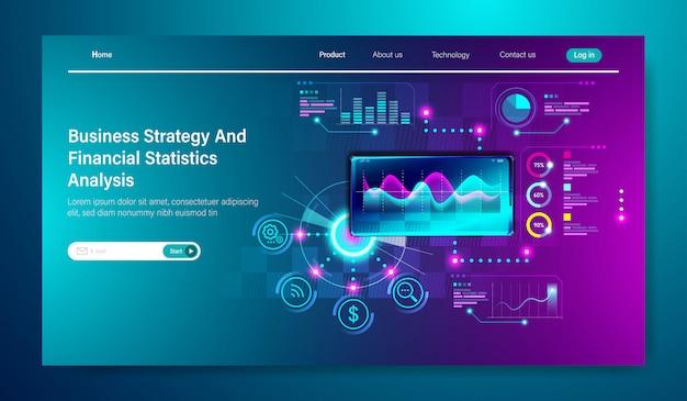 Modern flat design of business strategy Premium Vector