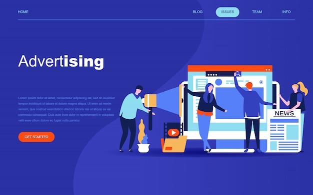Modern flat design concept of advertising Premium Vector