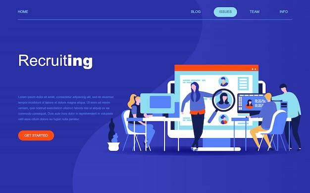 Modern flat design concept of business recruiting Premium Vector