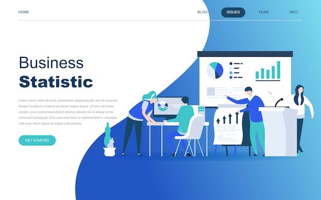 Modern flat design concept of business statistic Premium Vector