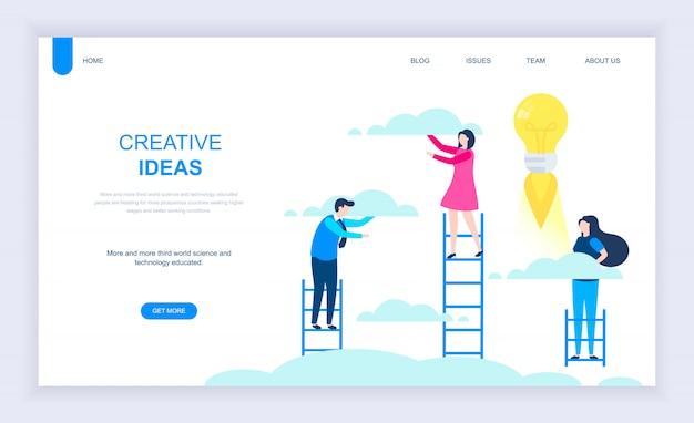 Modern flat design concept of creative idea Premium Vector