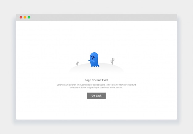 Modern flat design concept of ghost, page doesn't exist for website and mobile website. empty states page template Premium Vector