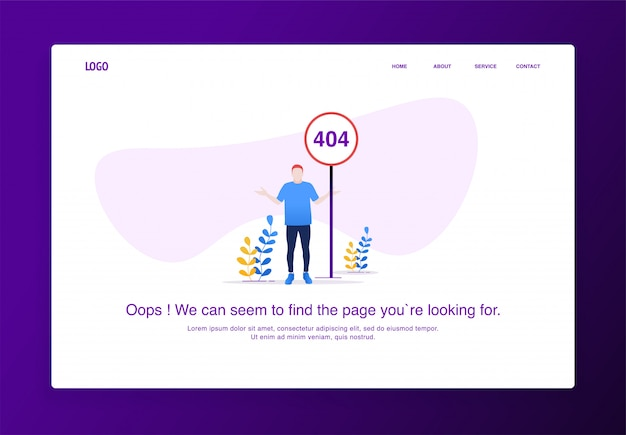 Modern flat design concept of a man with a confused gesture Premium Vector