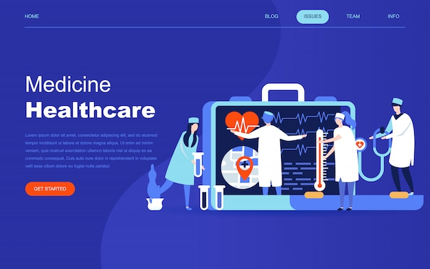 Modern flat design concept of online medicine Premium Vector