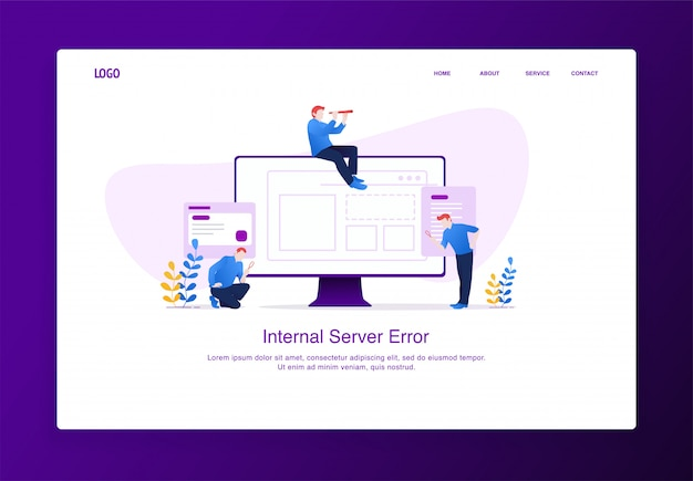 Modern flat design concept of people with magnifying glass and binoculars searching something missing Premium Vector