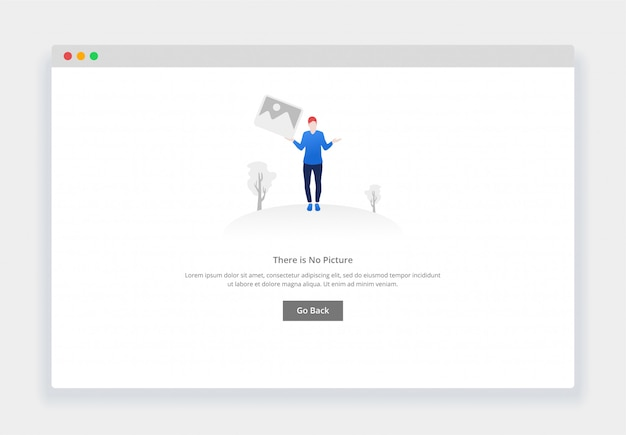 Modern flat design concept of there is no image for website and mobile website. empty states page template Premium Vector