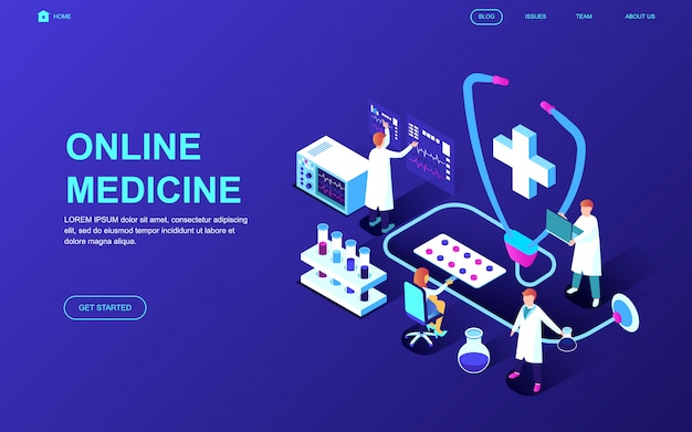 Modern flat design isometric concept of medicine and healthcare Premium Vector