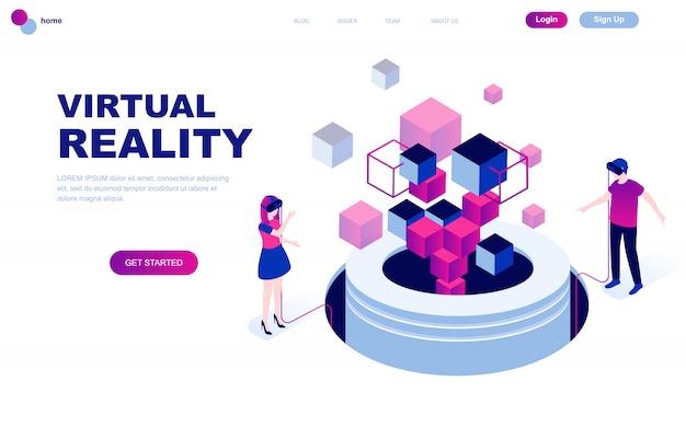 Modern flat design isometric concept of virtual reality Premium Vector