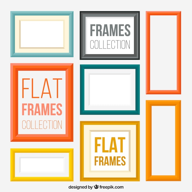 Modern flat frames Vector | Free Download