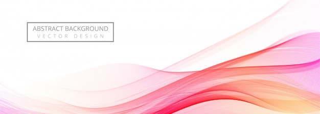 Modern flowing colorful wave banner on white background Free Vector