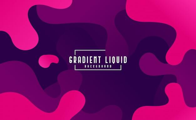 Modern fluid background with liquid color Premium Vector